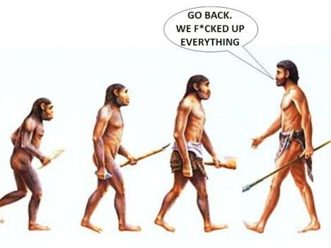 human-evolution-go-back